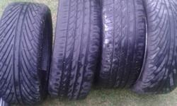 "18""Mags and tyres 5hole 100 pcd 2 new tyres and 2 70%"
