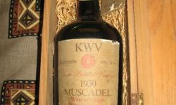Well kept 1930 KWV Muscadel in Wooden box. Item is kept