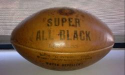 This Super All Black rugby ball, signed by the majority