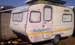 gypsey caravette 4 with full tent and big fridge and
