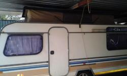 A 1985 Sprite Sport 6 bed caravan for sale. In great