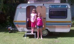 Neat little caravan Electric Fridge Full tent and rally