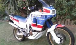 Honda Africa Twin 650cc. Very clean. Tyres practically