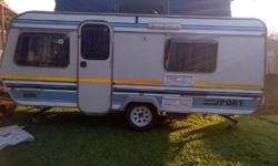 Beautiful Sprite Super Sport 1989 model caravan in a