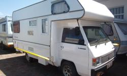 Motorhome in good condition with 153500 km on clock, 2L