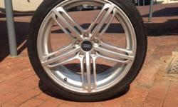 "Audi S5 19"" 5 spoke mags and tires PCD 5/112 Offset 47"