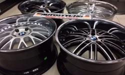 "19"" BMW 5x120 PCD DEEP DISH STAINLESS STEEL LIPS"