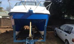 Cat boat for sale, two new 90 Hp evinrude motors, both