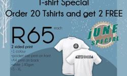 Order 20 Tshirts and get 2 FREE 2 sided print �1
