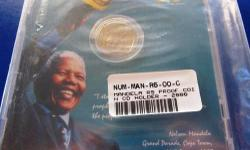 2000 Smiling Mandela R5 Proof Coin Sealed in CD case. A