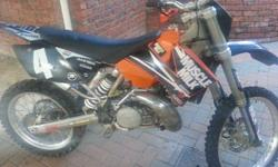 Ktm 250 2 stroke, new tyres. Performance exhaust.