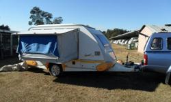 Sprite Scout caravan for sale has galvanized chassis,