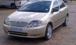 2005 Toyota corolla with air condition factory fitted