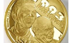 2007 Mandela/de Klerk proof 1oz gold coin with COA.