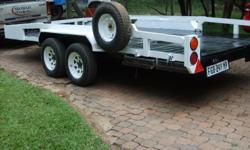 2007 Strydom double axle car trailer with winch Good