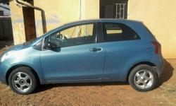 A Toyota Yaris 3 doors is up for sale with aircon,power