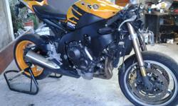Honda CBR1000 cc 2008 First registered 2013 Accident
