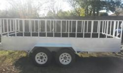 4m Double axle trailer with 14 inch tyres and papers