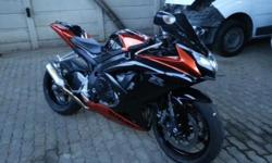 SUZUKI GSXR 750, 2010 MODEL, 7000KM, PIPE TINTED SCREEN