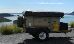 2011 ECHO4 4X4 OFF ROADER TRAILER. Dual batteries