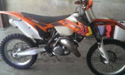 A virtually brand new 2013 KTM 150XC , with extremely