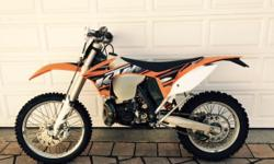 2013 KTM 300 XCW 74 Hours Extras: Carbon Pipe Guard &