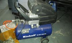 24ltr compressor hardly used. With piping and gravity