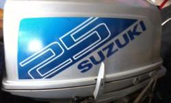 25hp Suzuki Outboard engine Need a service.