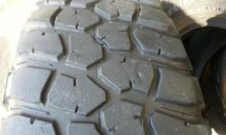 285/70/17 BF GOODRICH M/T x4 with 6-8mm tread still on