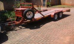 Trailer double axle 2.5ton carrying capacity. 5metre