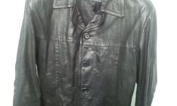 1 genuine authentic biker leather jacket size 42 ,@R300