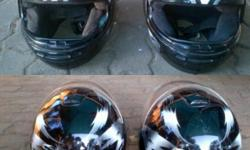 2 matching helmets for sale one medium and one large