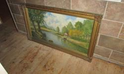 2 old oil paintings from the 1950s. R1700 for both .