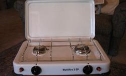 2 plate camping hob. Self lighting. New at R700.