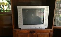 1) Toshiba Rear projector TV very large screen in