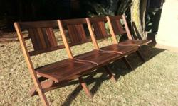 2 � 4 seater solid wood chairs