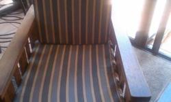 2 x Morris chairs for sale @ R 950.00 each1 x Wooden