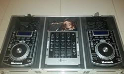 2x NDX 400 cd jays plus 3 channel mixer including all