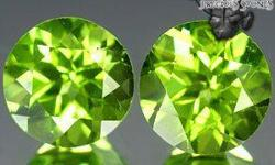 Beskrywing Peridot (Matching Pair) Weight: 3.00 TCW