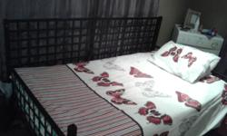 I have a 3/4 metal hand made bed for sale for R1200.00