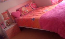 3/4 Pink Bed,Mattress and Side Table For Sale = R2100