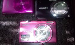 3 digital cameras Nikon,canon,samsung all in working