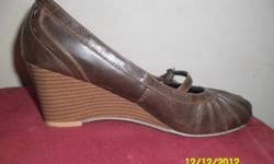 Black, brown and beige wedges. Very comfortable and
