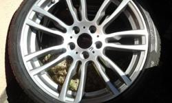 "3 x BMW F30 RIMS 19"" MOTORSPORT NARROW & WIDES WITH"