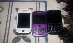 3 Blackberries for sale. 8520 Curve 9360 9800 Torch