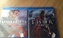 Hi I am selling BLU-RAY 3D DVD CAPTAIN AMERICA and THOR