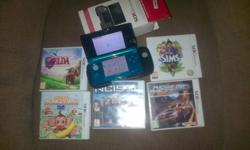 Selling my nintendo 3ds with 5 games and nintendo