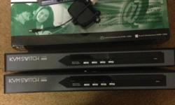 3x Keyboard Video Mouse (KVM) switches. Each of them