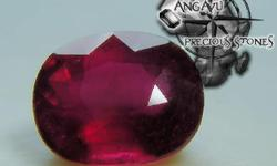 Beskrywing Ruby Weight: 4.26 CT Clarity: SI Facet: Oval