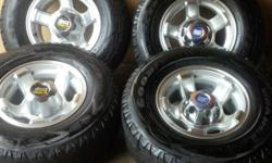4 infinity MAG RIMS with Goodyear tyres 245/75R15C
